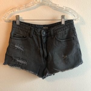 NWOT Urban Outfitters Ripped Black Denim Shorts